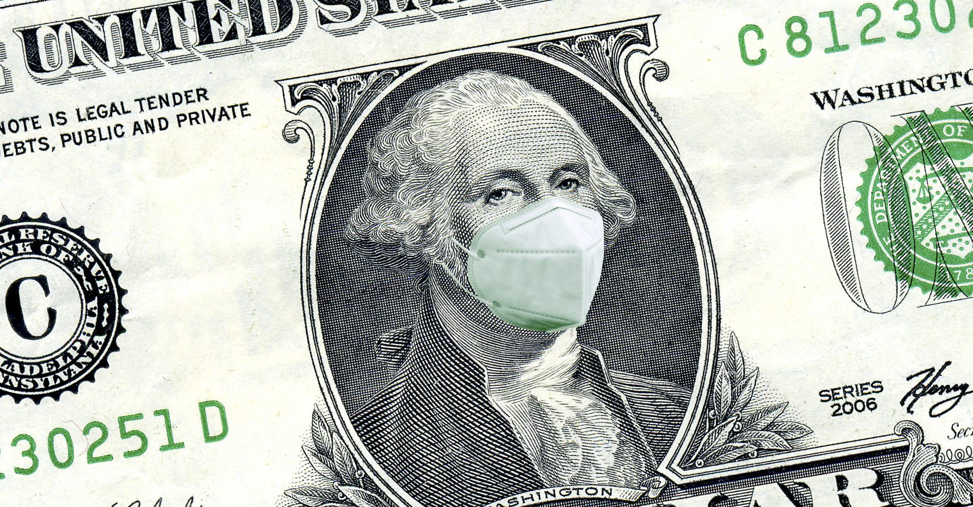 CONSULTING CENTRALE DOLLAR BILL MASKED FROM COVID